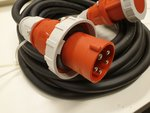 TRS 63A 400V Powercable CEE 5P. M/F 5G10 15M