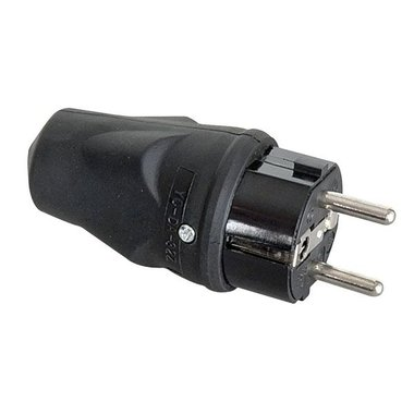 PCE rubber schuko connector male 240V 16A