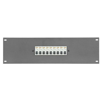"Showtec PDP-F9161 19"" Powerdistribution Panel with 9 x 16A MCB 1 pole"