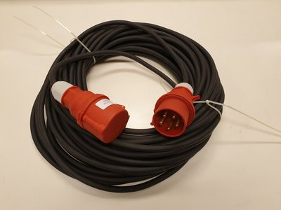 TRS 16A 400V powercable CEE 5P. M/F 33M 5G1.5